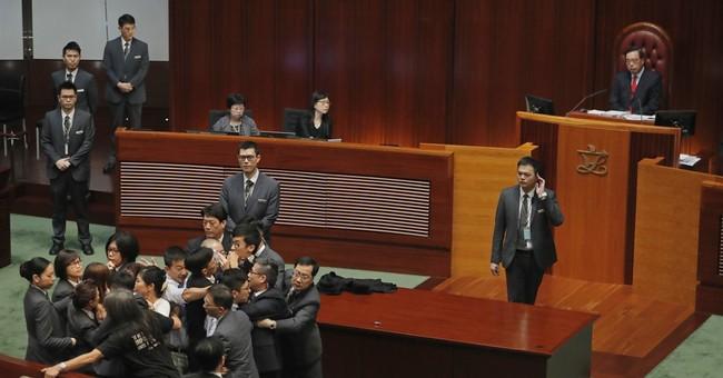 Hong Kong lawmaker oath standoff sparks more chaos