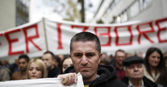 Residents of Bosnian town protest allegedly rigged election