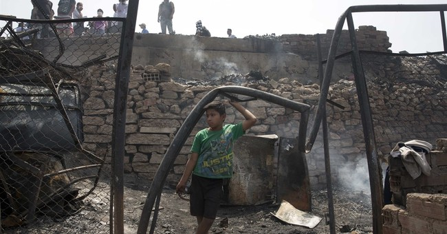Fire consumes Lima's lone indigenous community