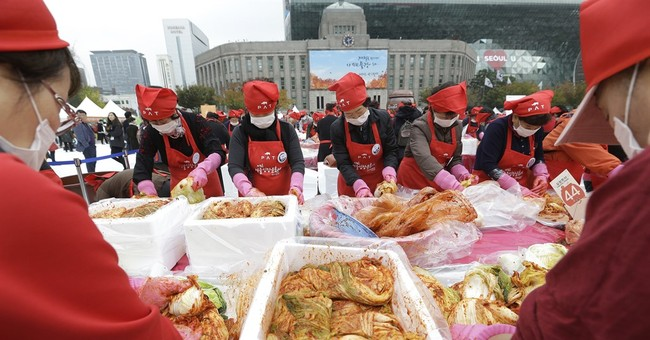 Image of Asia: Making and sharing kimchi with less fortunate