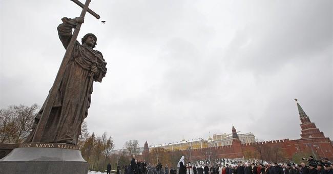 Putin leads inauguration of statue of Prince Vladimir