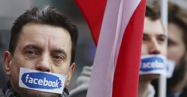 Far-right Polish groups protest Facebook profile blockages