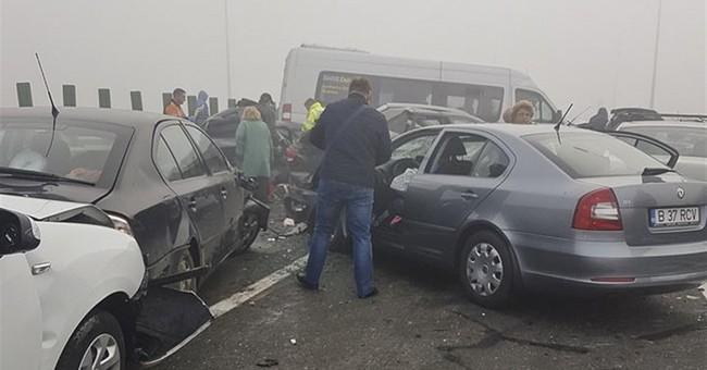 Romania: 3, dead, 57 injured in pileup on fog-bound highway