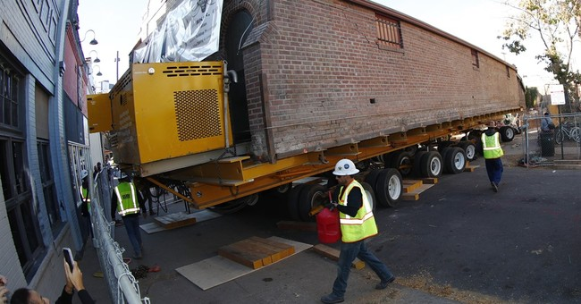 Streets blocked as big artist studio hauled through Denver