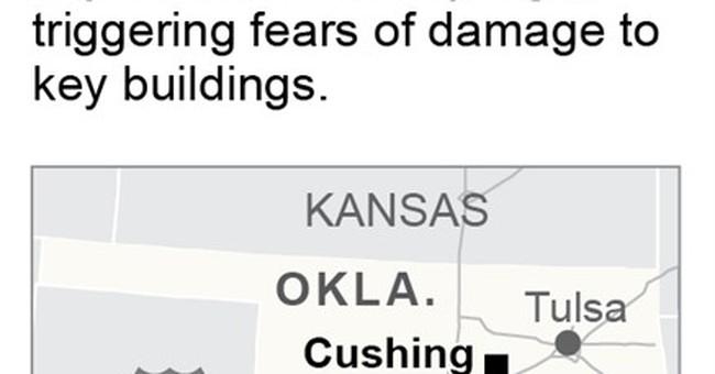 Earthquake rocks central Oklahoma oil town