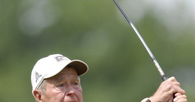 Former President George HW Bush golf items up for auction