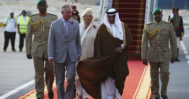 Prince Charles, Camilla arrive in Bahrain and meet its king