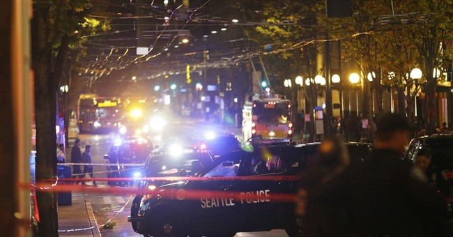 """The Latest: Clerk: """"Multiple people down, a lot of blood"""""""