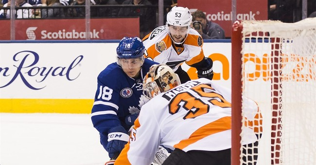 Rielly, Hyman lead Maple Leafs past Flyers, 6-3