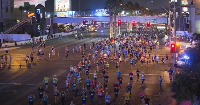 Runner dressed as Elvis wins Vegas Rock 'n' Roll Marathon