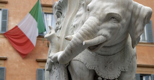 Vandals break tusk of Bernini elephant statue in Rome