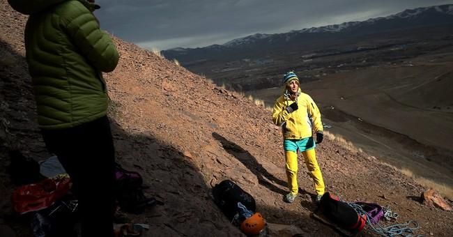 AP PHOTOS: Women's rock climbing gains foothold in Iran