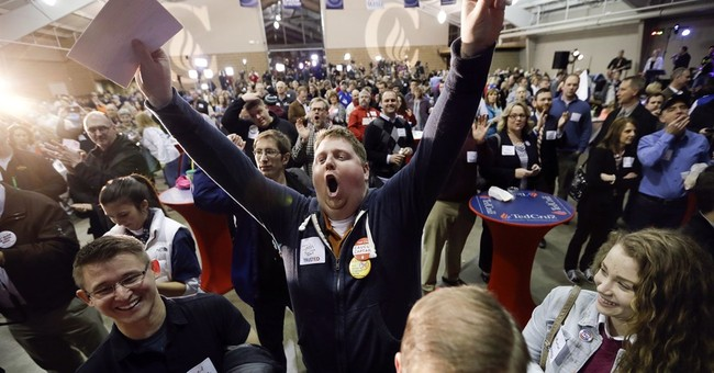 AP PHOTOS: Winners and near-winners of Iowa's caucuses
