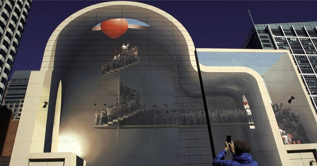 Stairway to heaven: Iranian artist's wall mural turns heads