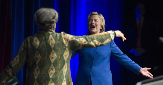 In pep talk, Clinton urges backers to 'never, ever give up'
