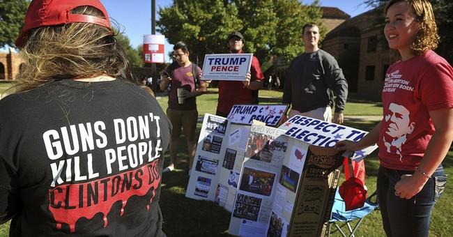 College students protest Donald Trump's deportation plans