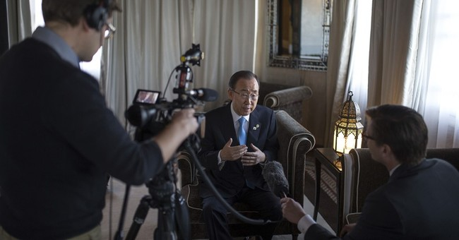 AP Interview: UN chief Ban says Trump is changing, slowly