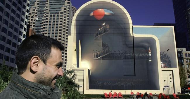 Stairway to heaven: Iranian artist's wall mural turns heads