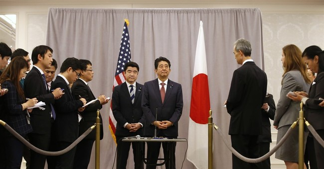 Japan PM in NY for 1st meeting by foreign leader with Trump