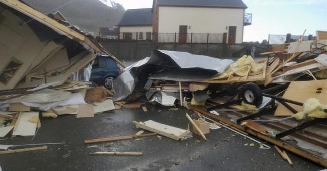 Freak winds in Wales wreck cars, flip caravans; no injuries