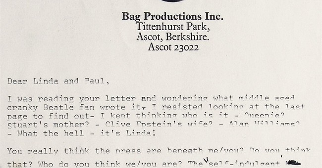 Lennon's Beatles breakup letter sold at auction for $30,000