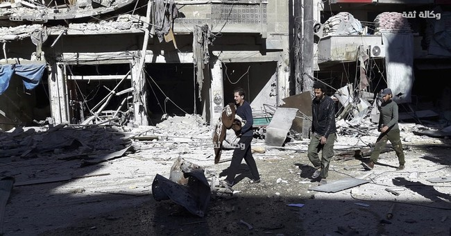 Hospital workers rush to evacuate infants in Aleppo bombing