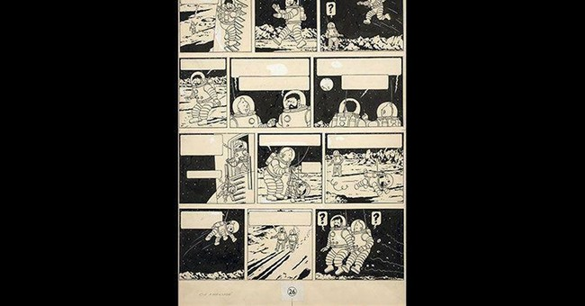 Record sale for a rare Tintin drawing in Paris auction