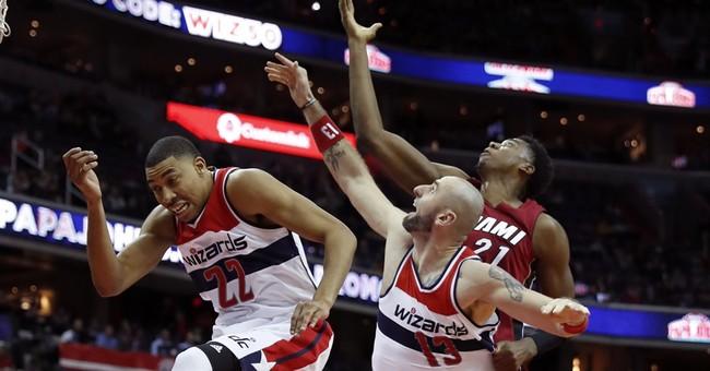 Dragic, Whiteside lead Heat to 114-111 win over Wizards