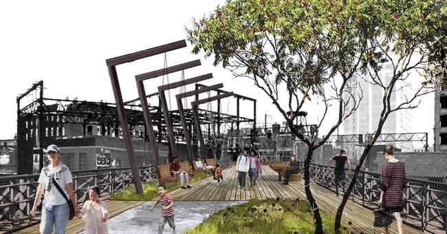 Philadelphia turning railroad ruins into elevated Rail Park