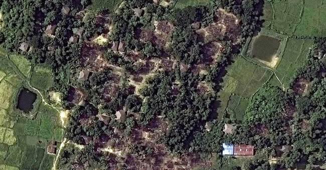 Satellite images reveal destruction in Rohingya villages