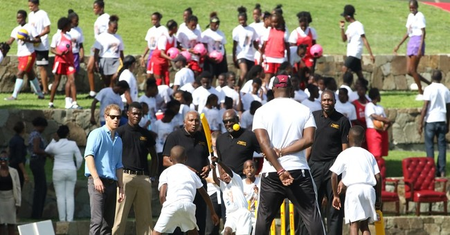 Prince Harry plays some cricket, volleyball on Antigua visit