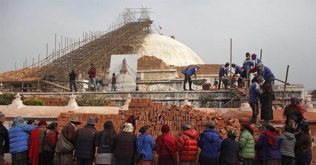 Historic site rebuilt in quake-hit Nepal; gov't didn't help