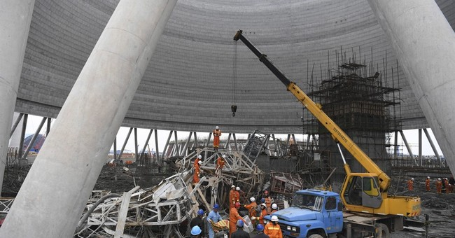 At least 40 killed in east China scaffolding collapse