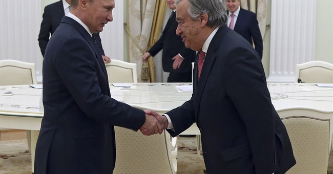 UN's incoming secretary-general meets Russia's Putin
