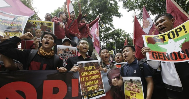 Indonesians protest at Myanmar embassy over Rohingya cause
