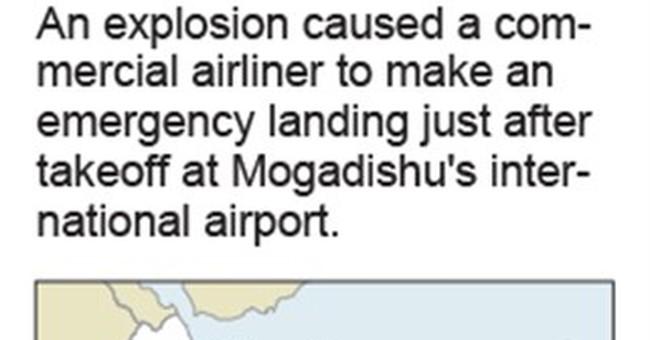 Explosion forces plane to make emergency landing in Somalia