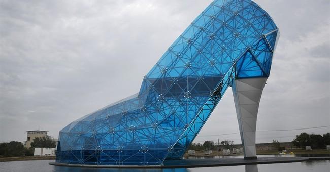 Taiwan county builds huge glass shoe as tribute to women
