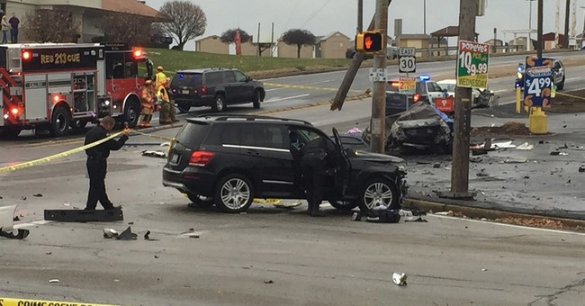 The Latest: Police: Driver hit 100 mph before chase crash