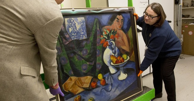 2 artworks in 1: Double-sided Pechstein on display