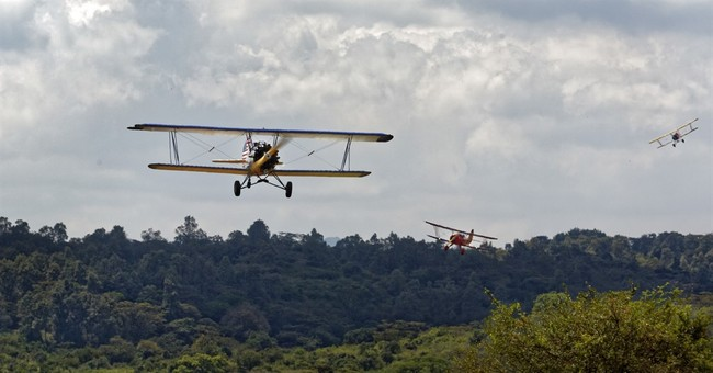 Africa air rally featuring vintage planes reaches Kenya