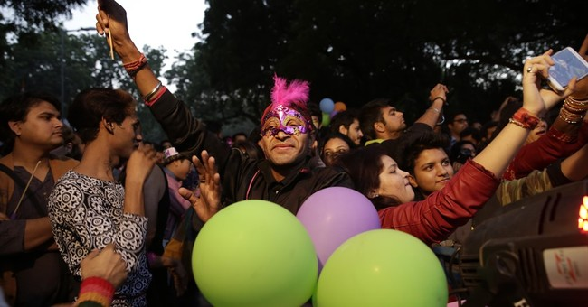 Gay rights activists march in annual New Delhi parade