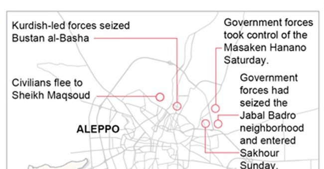 Syrian army Aleppo advance displaces thousands