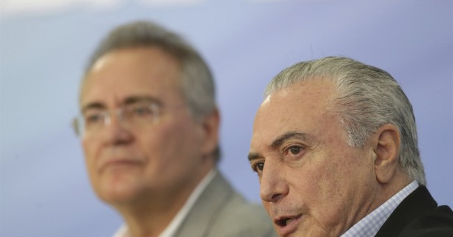 Brazilian protesters call for embattled president's ouster