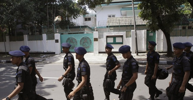 Indonesia says 2 militants arrested in Myanmar Embassy plot