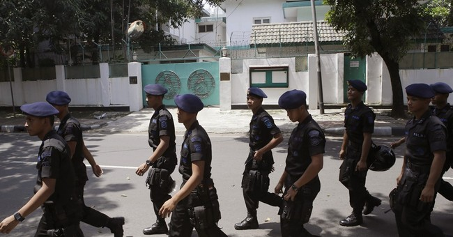 Indonesia says 2 militants arrested in Myanmar Embassy plot