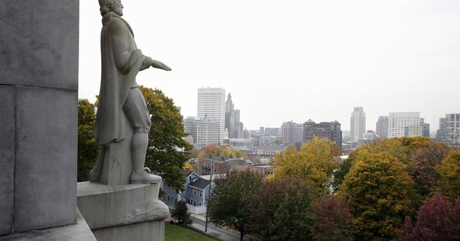 To help draw business, a state looks back to its 1636 roots