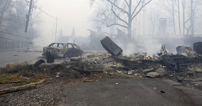 Escaping wildfires meant fleeing through hell-like landscape