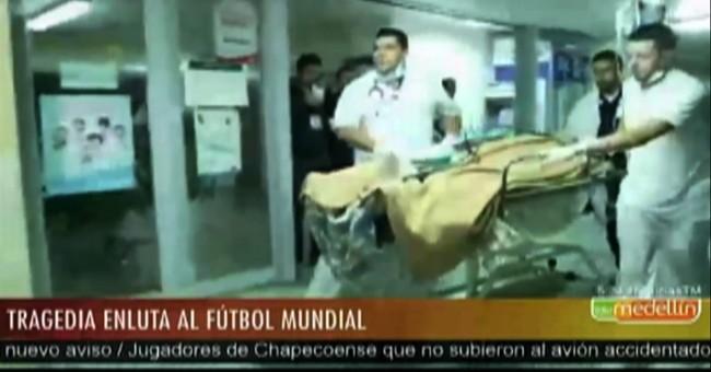 Brazilian soccer team's plane crashes in Colombia; 71 dead