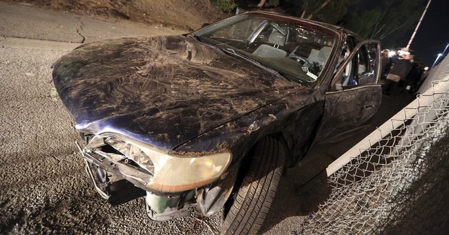 Car jumps Los Angeles freeway, hits homeless camp, killing 1