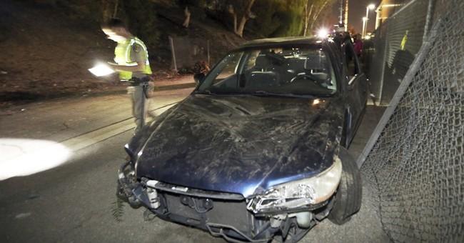 Car jumps Los Angeles freeway, hits homeless camp, killing 1